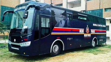 Delhi Police Deploys New Hi-Tech Bus To Respond To Emergency Events