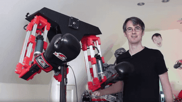This Guy Made A Robot To Beat The Crap Out Of Him