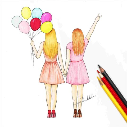 Two Best Friends Drawing The Most Beautiful Images For You Mobygeek Com