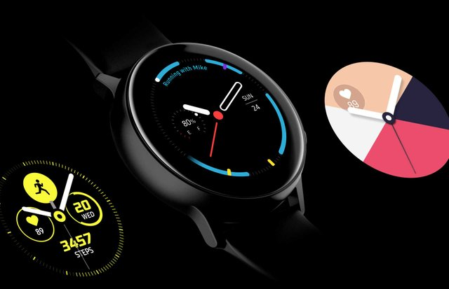Galaxy Watch Active Watchface Gui Style Custom 000