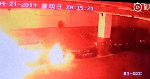 Tesla-Fire-Shanghai-Parking-Garage