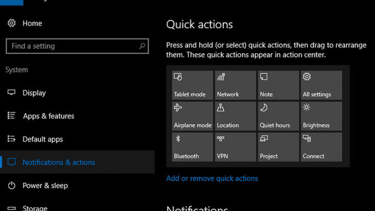 Windows-10-Quick-Actions
