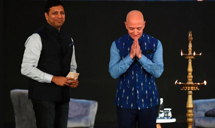 Jeff Bezos visited India earlier this year