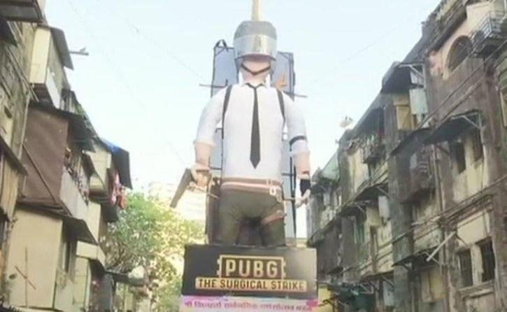 Kết quả hình ảnh cho Two Brothers Built This PUBG Effigy To Burn On Holi, And Make People Aware About Its Addiction
